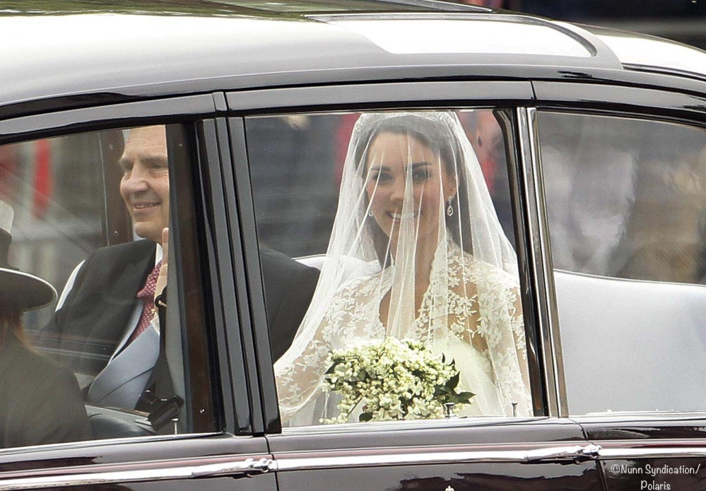 Kate Middleton Wedding in Car from Goring to Westminster Abbey