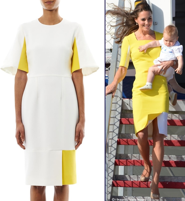Bright yellow roksanda ilincic dress