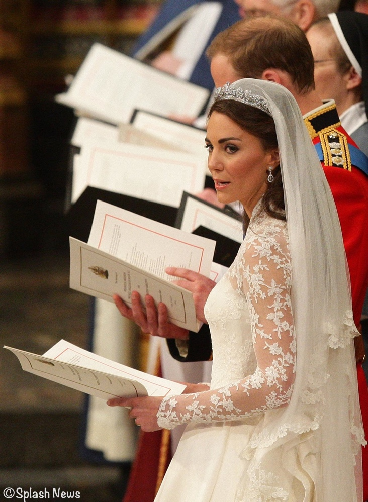 Kate Wedding Gown in Abbey  April 29 2011