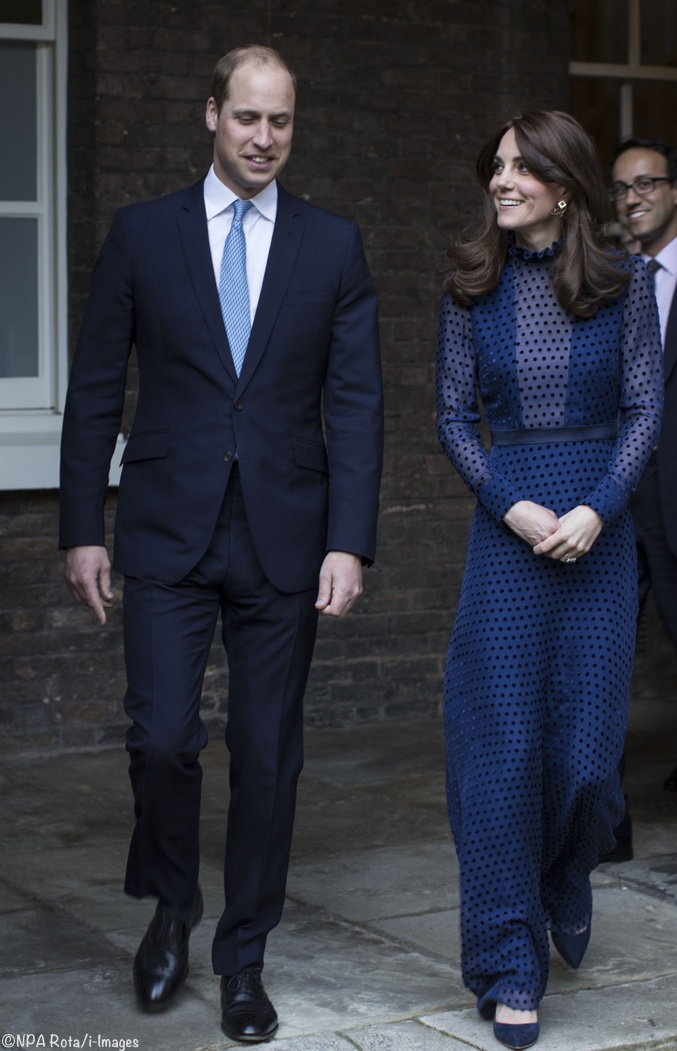 Kate In Saloni Maxi Dress For Pre Tour Palace Reception