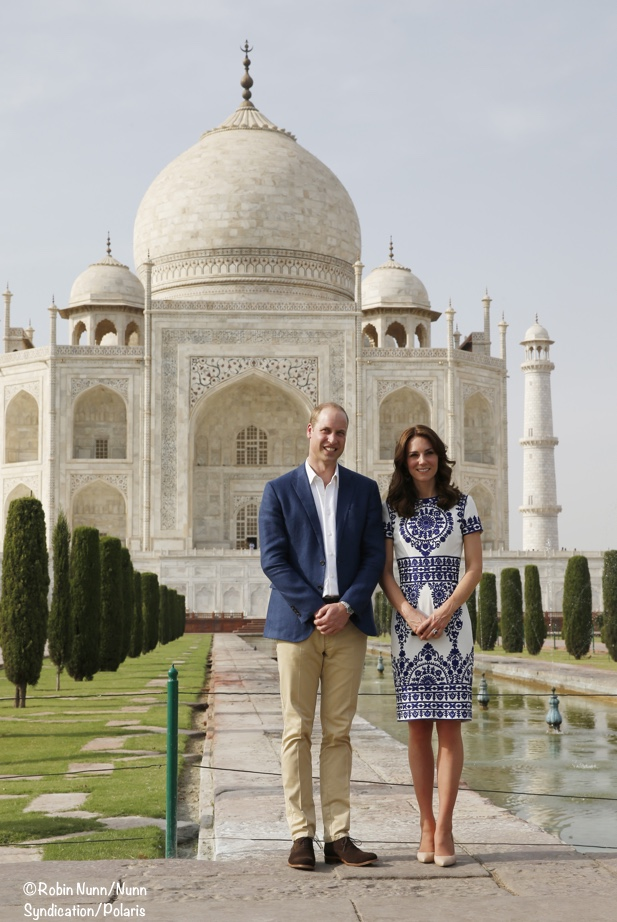 Kate and William at Taj Mahal