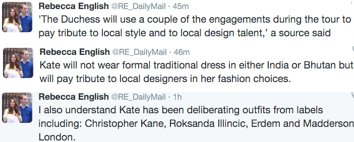 Rebecca English, The Daily Mail & Mail Online