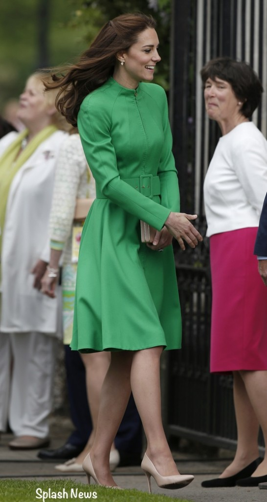Kate Middleton Green Catherine Walker coatdress coat dress Chelsea Flower show
