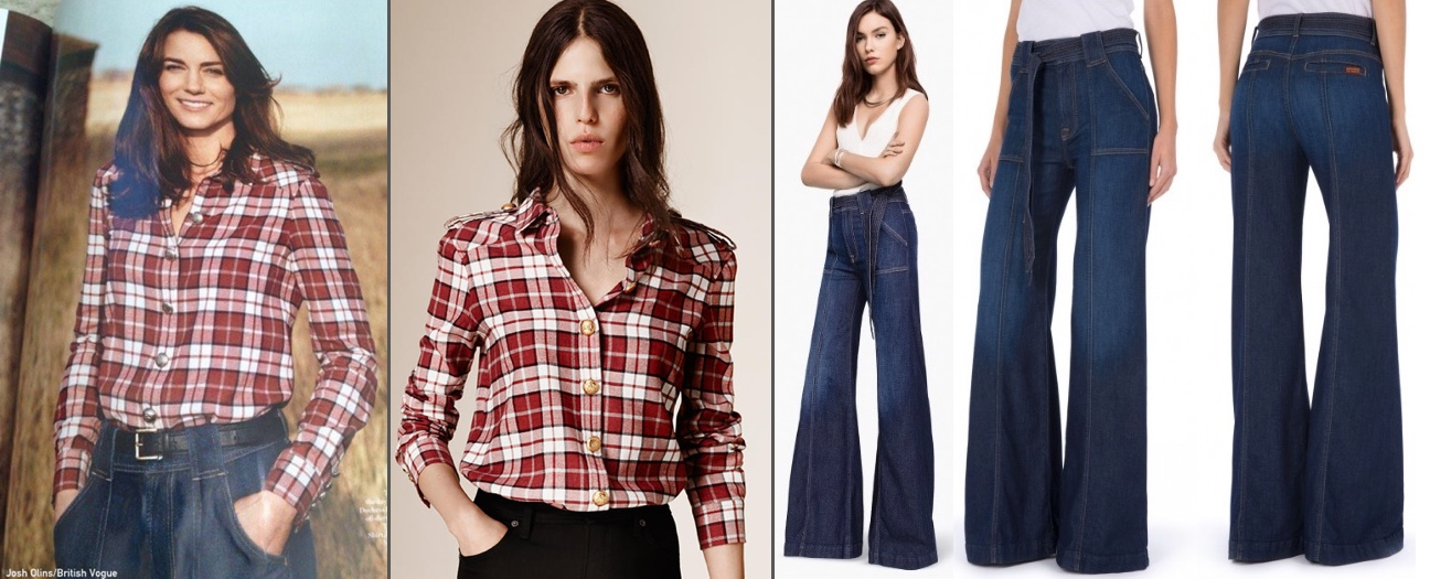 British Vogue/Burberry/7 for all Mankind