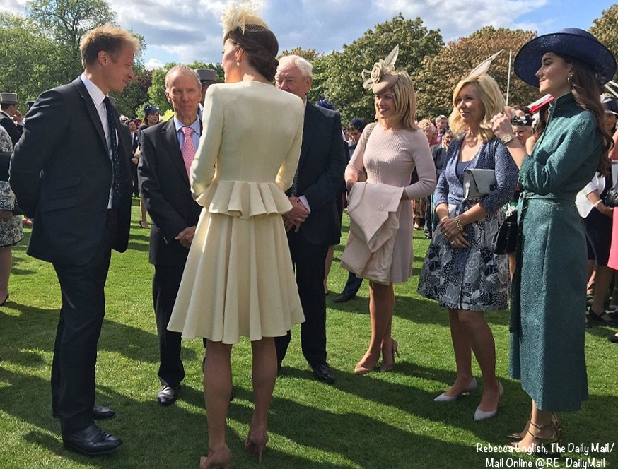 Kate In Mcqueen Christening Ensemble For Garden Party What Kate Wore
