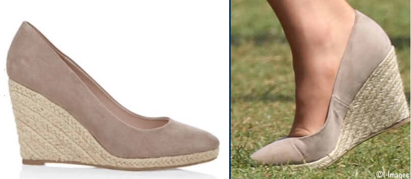 Kate India Tour WEdge Espadrilles Cricket Water Tower Monsoon Fleur Taupe April 10 2016