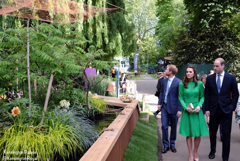 Kate Middleton Green Catherine Walker Coatdress Coat Dress Chelsea Flower Show 2016