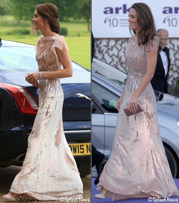 Kate Brings Back Blush Jenny Packham Gown For Norfolk Nook