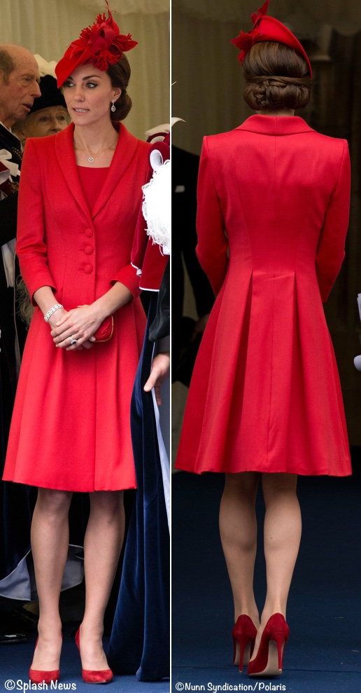 Kate In Rich Red Pieces Amp Diamond Wedding Earrings For