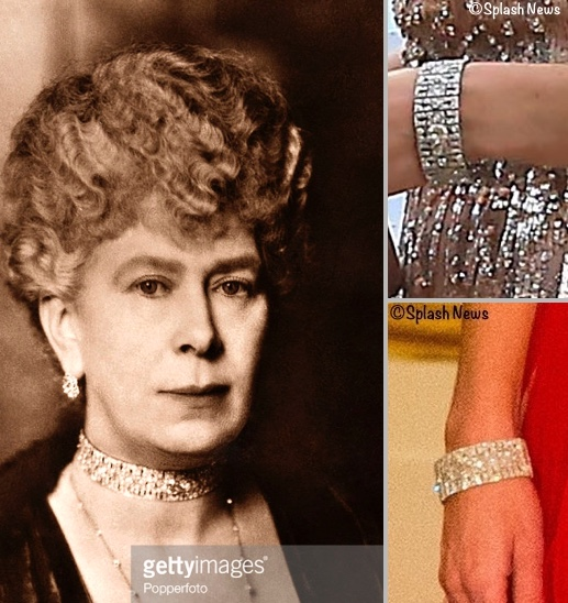 Kate Queen Mary Choker Necklace Made Bracelet China State Dinner EACH Taste Norfolk Fundraiser June 22 2016