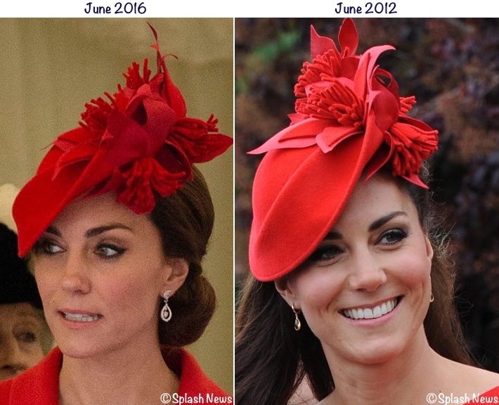 Kate in Rich Red Pieces & Diamond Wedding Earrings for Order of the Garter - What Kate Wore - 웹