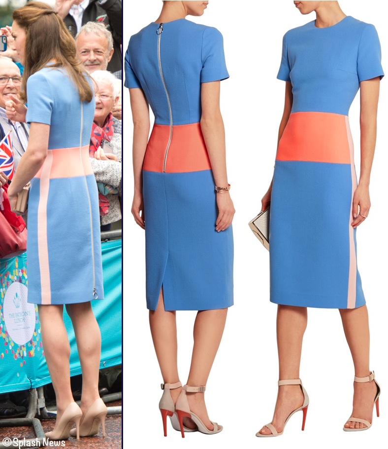 f91860993a4 A New Roksanda Ilincic Frock for Patron s Lunch on The Mall » Kate Roksanda  Ilincic Blue Marwood Dress Patron s Lunch June 12 2016 From Back with  Product ...