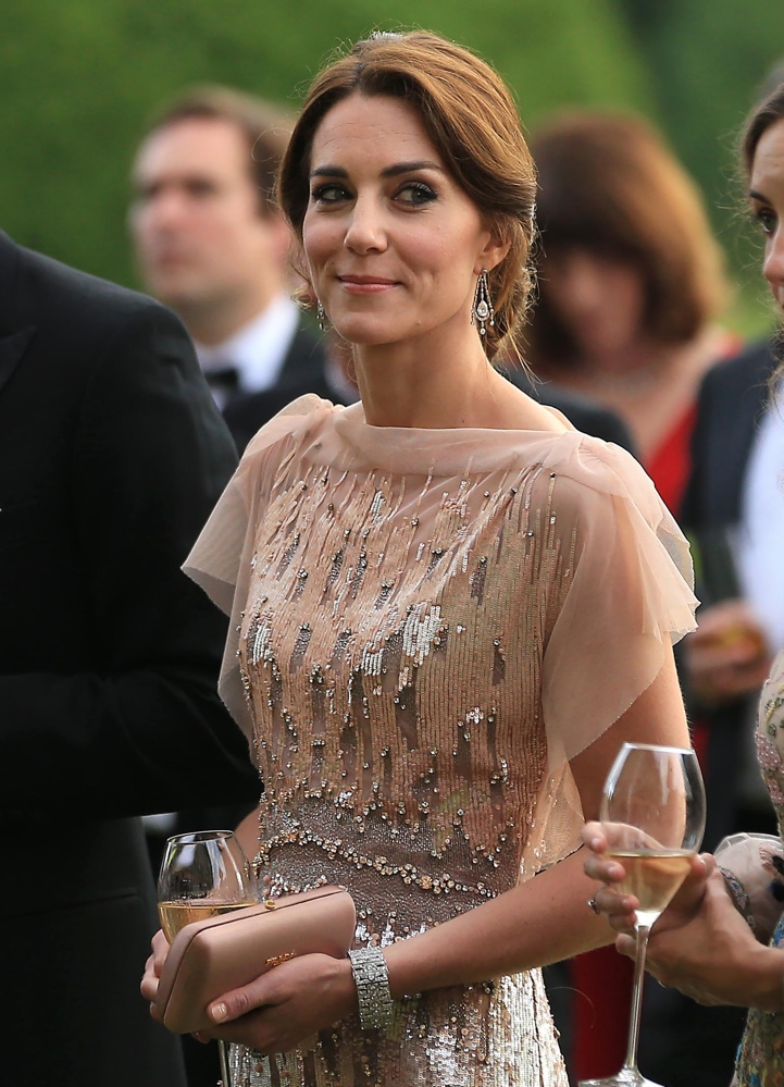Kate Brings Back Blush Jenny Packham Gown for Norfolk Nook Appeal ...