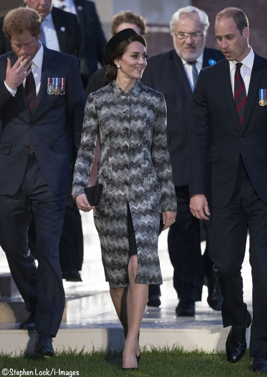Kate in Missoni at Somber Service for Battle of the Somme ... 642e8e827