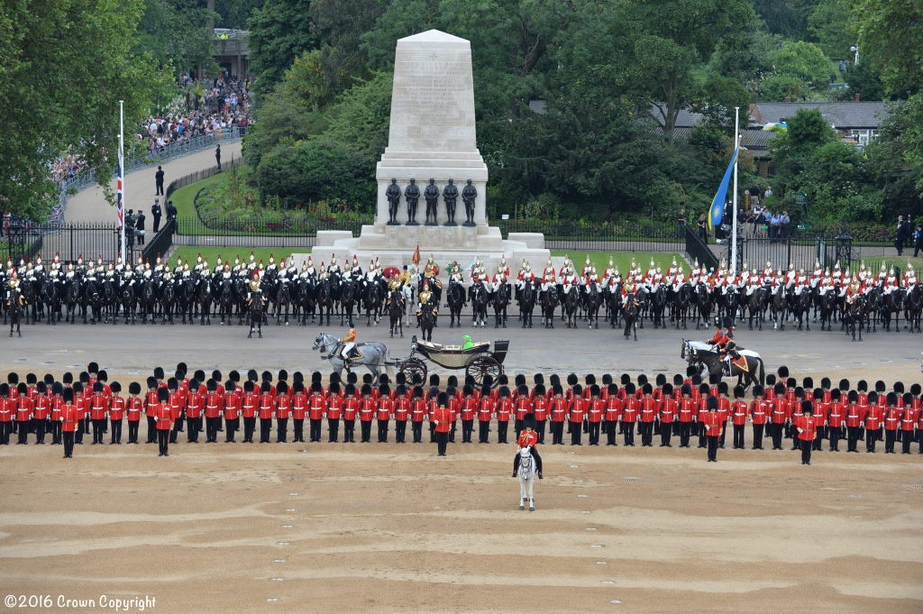 PRECISION, SPLENDOUR, DISCIPLINE and EXCELLENCE BRITAIN'S TROOPS CELEBRATE THE 90th BIRTHDAY OF THEIR QUEEN
