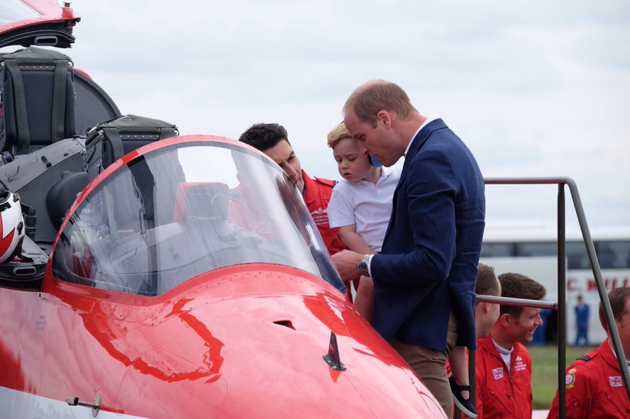 George William Looking Inside Red Arrow Cockpit July 8 2016 Air Tattoo