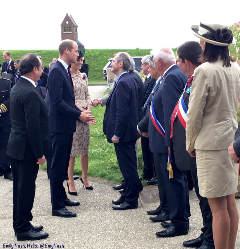 Kate William Somme 100 Dignitaries President Francois Hollande French Dept of the Somme