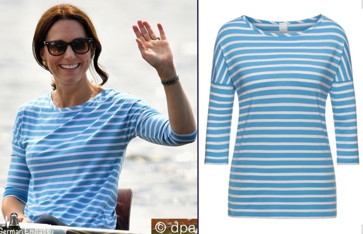 8be8f163b Kate's Hugo Boss Tamarini tee is available on the UK website (£69, about  $95), and it looks like it is available in all sizes. Many thanks to Laura  for her ...