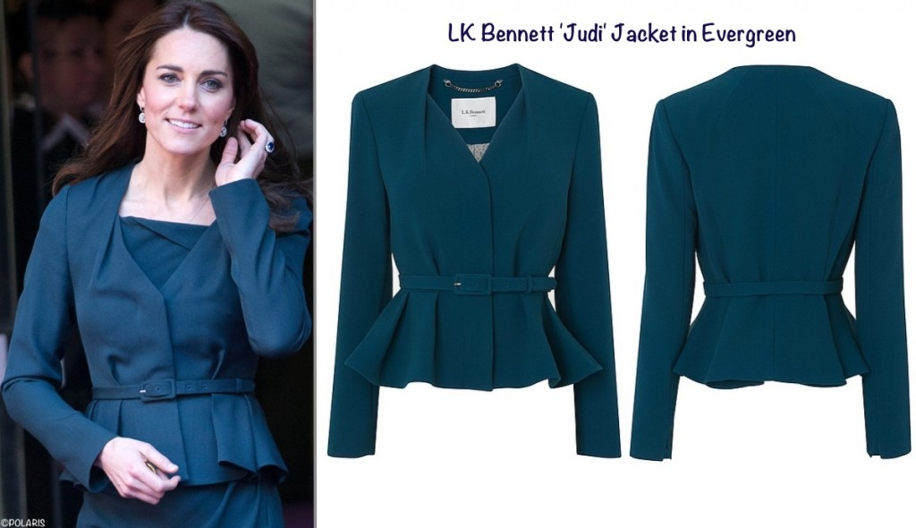 LK Bennett Reissues Jude Jacket as Judi with Kate ICAP CHarity Day Dec 9 2015 Polaris MOntage Sept 4 2016