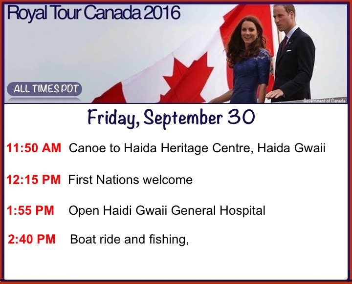 canada-day-6-schedule-event-times-timing-itinerary-agenda-engagements-september-30