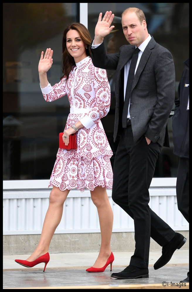 Kate red white mcQueen Dress Vancouver