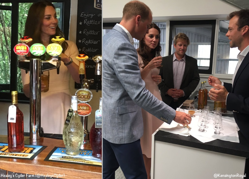 Healey's Cyder Farm (@HealeysCyder) /KensingtonPalace (@KensingtonRoyal)