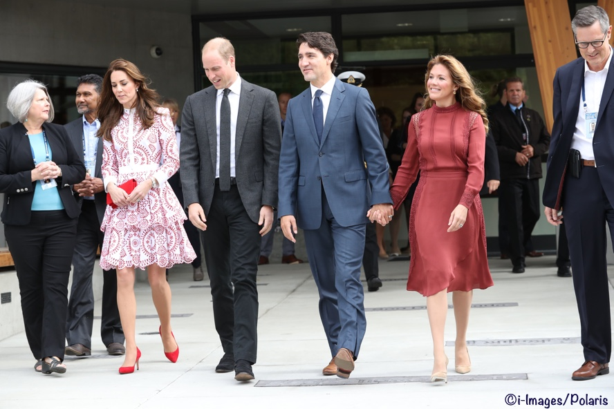Kate, William, Justin Trudeau and Sophie Gregoire Trudeau