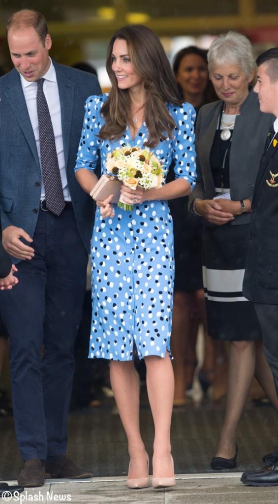 Kate Middleton Blue Altuzarra Dress