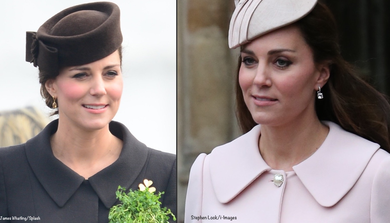 kate-c-walker-peter-pan-collar-st-patricks-2015-mcqueen-pink-maternity-coat