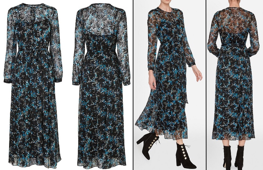 L k bennett long dresses sheer
