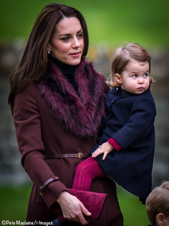 Kate in Familiar Pieces as George & Charlotte Attend Their First ...