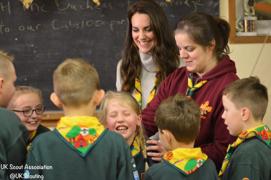 UK Scout Association Duchess Cambridge