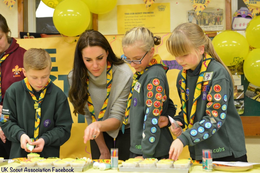 Kate Middleton UK Cub SCouts Scouting