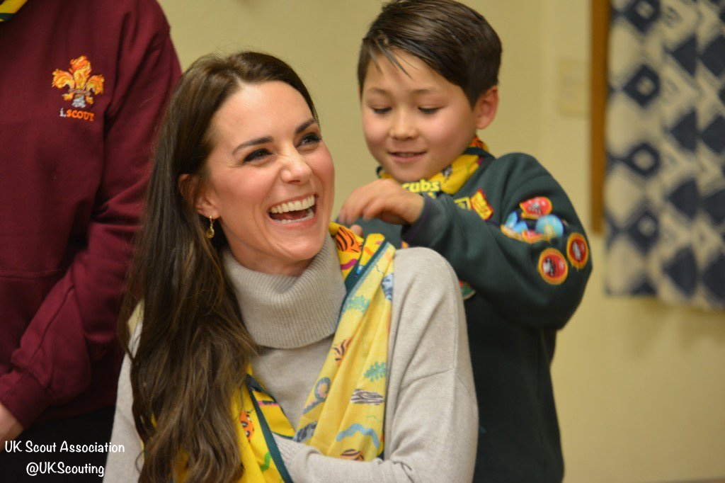 Duchess Kate King's Lynn Cub Scouts