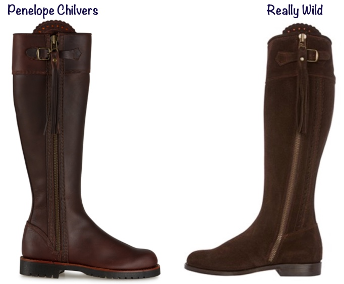Penelope Chilvers  Really Wild boots Differences Kate Middleton