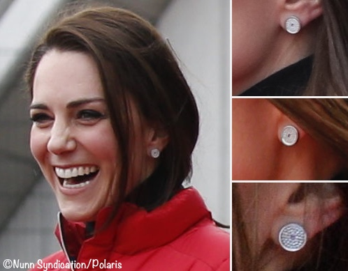 Kate Marathon Train Feb 5 2017 Asprey Earrings Multi Shots Montage