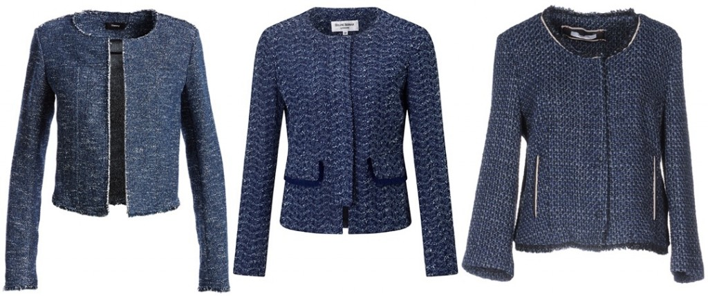 RepliKate for Rebecca Taylor New Blue Sparkle Tweed jacket 3 Three Options Feb 28 2017