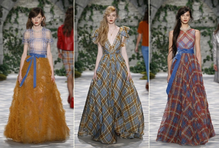 Jenny Packham Fall 3 Heritage Tartan Plaid Gowns - What Kate Wore