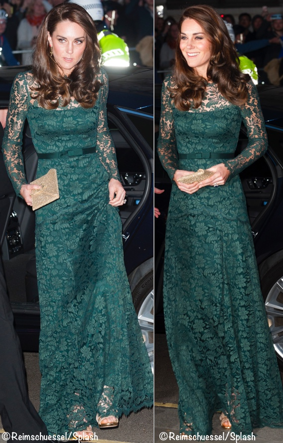 A New Lace Gown for the Duchess at Portrait Gallery Gala - What Kate ...