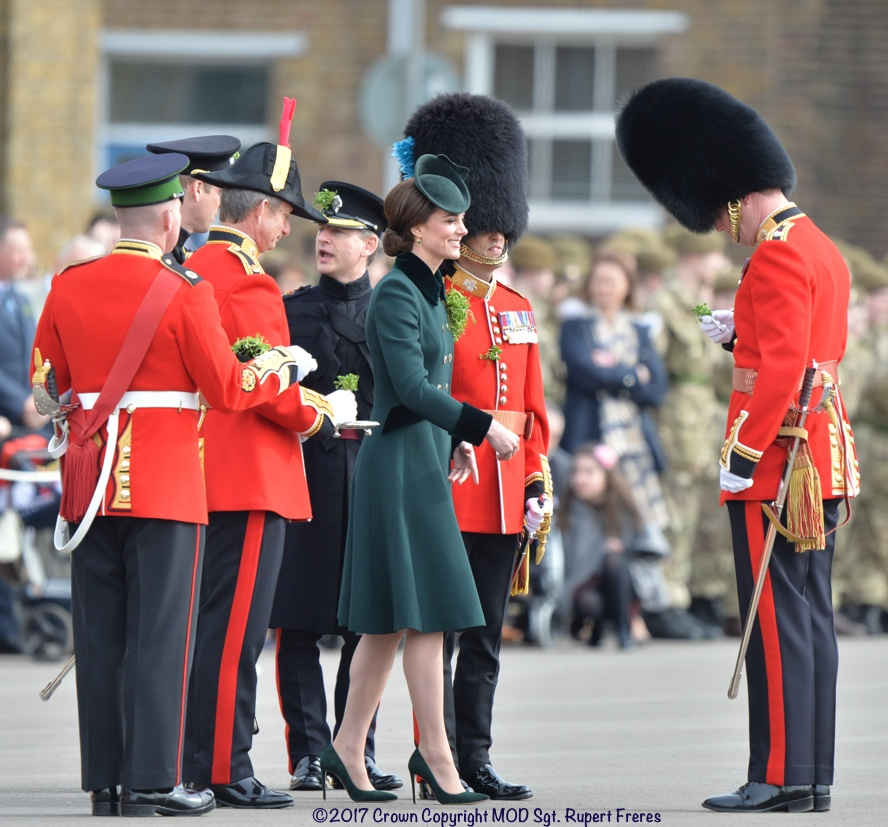 Duchess Cambridge shamrocks St Patrick's Day 2017