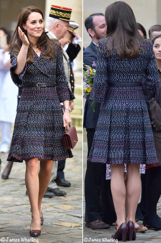 Kate Les INvalides Paris Chanel Coat Front Back March 18 2017 J What