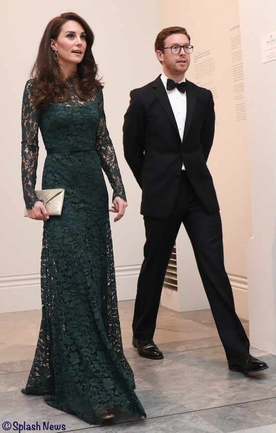 Kate Middleton lace gown green