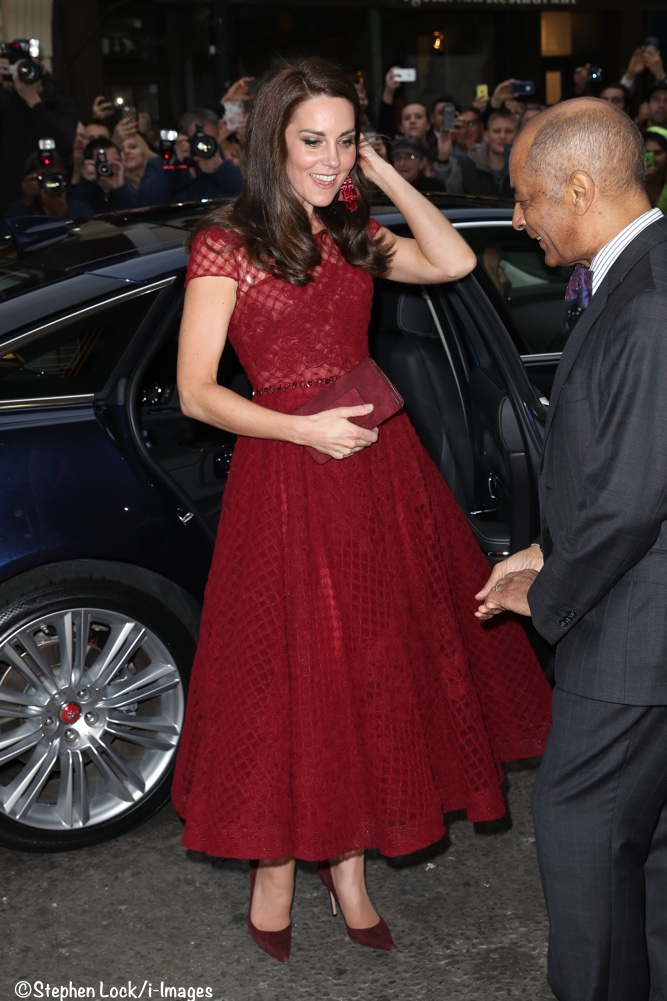 acaf3cd1 Kate Makes a Style Statement in Marchesa Notte & Kate Spade at Theater  Opening