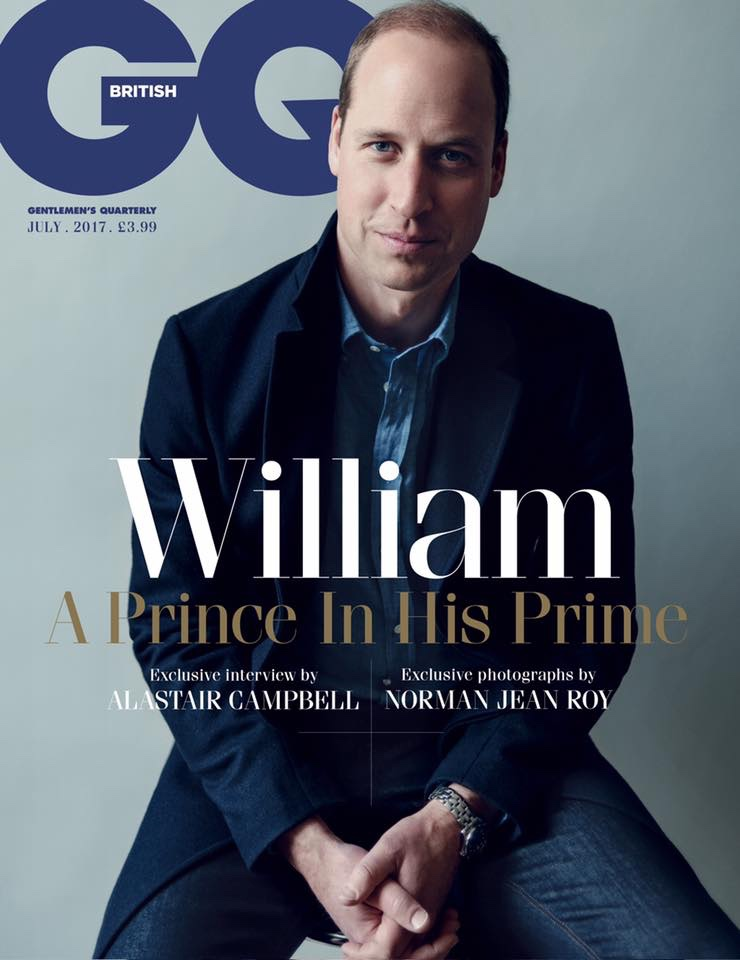 GQ Cover Prince William May 29 2017