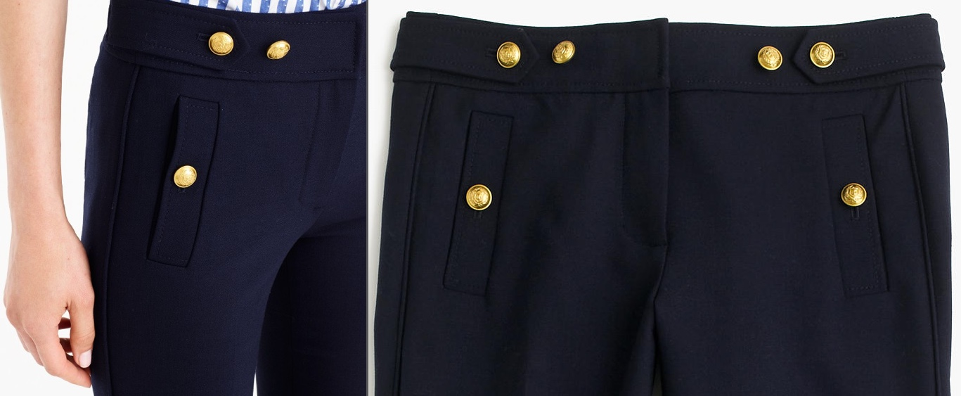 J Crew Sailor Pants Waist Details June 16 2017
