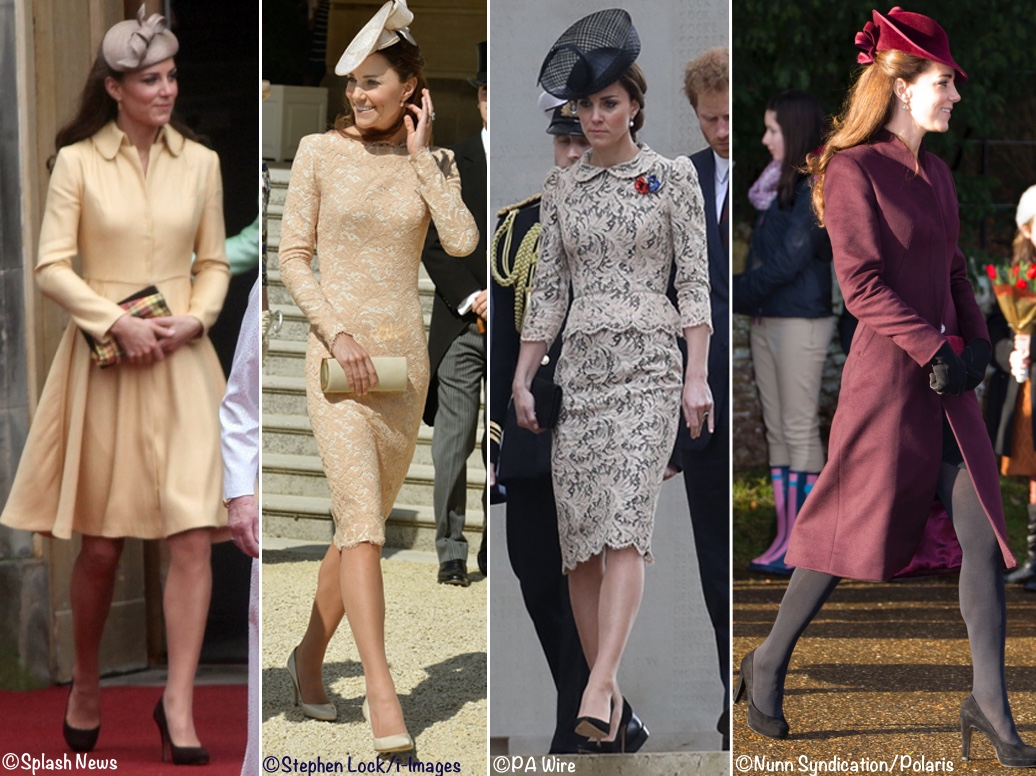 Duchess Kate Middleton Emilia Wickstead Jenny Packham McQueen Lace Aubergine Coat Christmas 2011