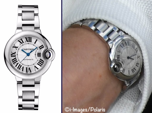 Kate Middleton Duchess Cambridge Cartier wrist watch Ballon Bleu