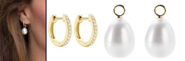 Kate Exhibition Road V and A June 29 2017 Annoushka Pearl Drops Kiki Hoops