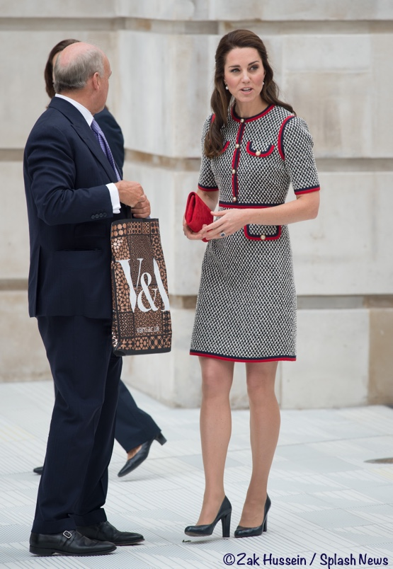 Duchess Cambridge Black White Gucci Mini Dress