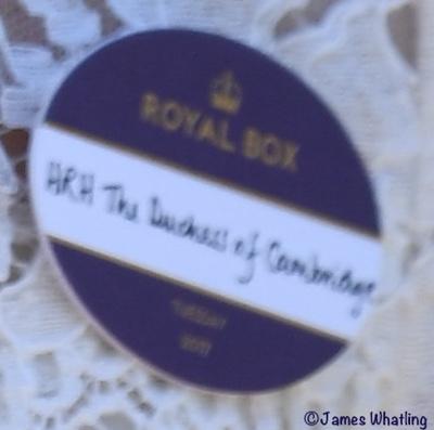 Kate Middleton Duchess Cambridge Name Badge Royal Ascot June 20 2017